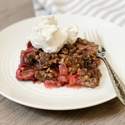 Strawberry Rhubarb Crisp (Healthier)