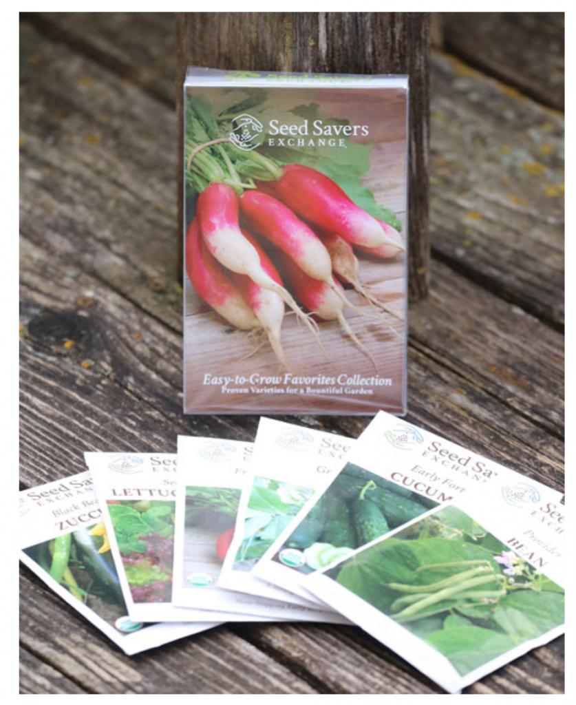Garden seed packet gifts